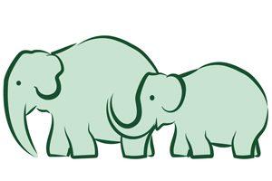 Elephants Interacting logo