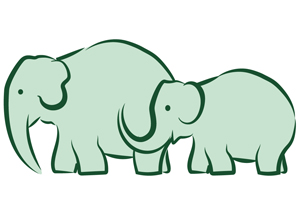Elephants Interacting logo